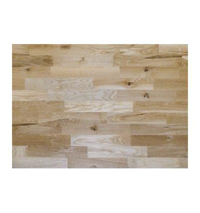 3-vrstvová masívna plávajúca podlaha Eurowood DUB Robust / 3-lamely, lak