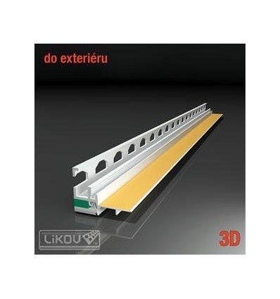 PS3-72 09/2600/lišta okenná začisťovacia 3D exteriér