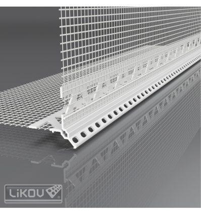 LK-H 06 PVC 100/2500/VERTEX/lišta rohová 6mm