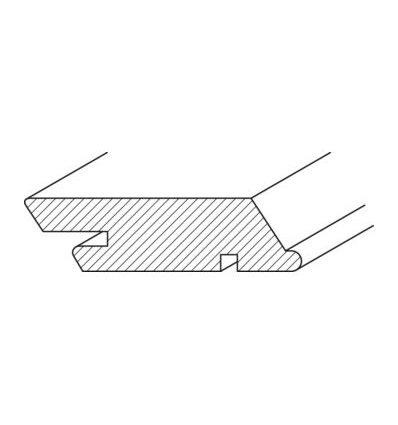Vonkajší drevený obklad Termoborovica, profil SSS, Tiga Easy Clip