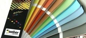Fasádne tenkovrstvé omietky WEBER (označenie weberpas) v najširšej ponuke ako silikónové, silikátové, silikát silikónové a akrylátové omietky. Výborná cena.